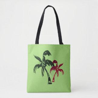 Tote Bag Cocotiers tropicaux sur le vert apaisant