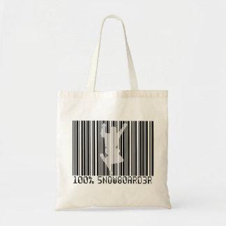 Tote Bag Code barres 100% noir du SURFEUR 2
