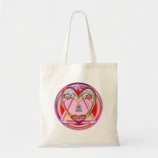Tote Bag Coeur Chakra - présentation artistique de NOVINO