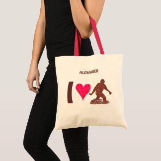 Tote Bag Coeur de marche Bigfoot de Z Bigfoot Sasquatch I
