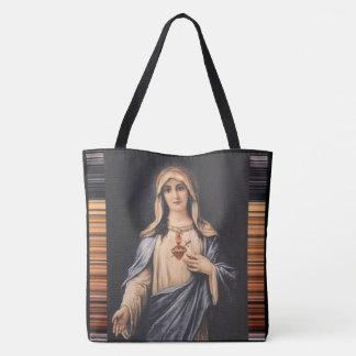 Tote Bag Coeur impeccable de mère douleureuse de Mary