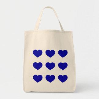 Tote Bag Coeurs bleus