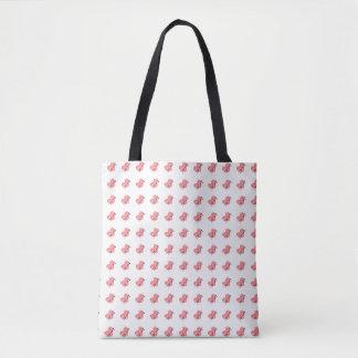 Tote Bag Coeurs de motif de métiers d'aiguilles de fil et