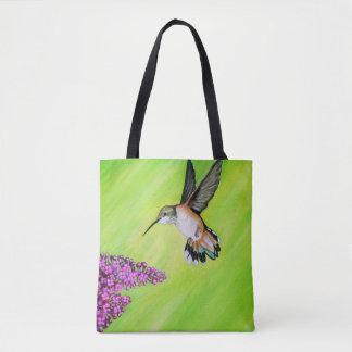 Tote Bag Colibri et lilas