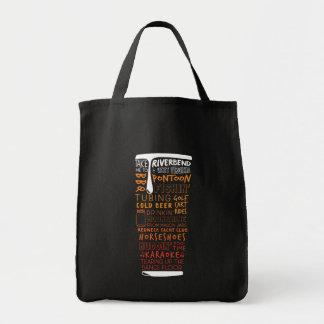 Tote Bag Collage Fourre-tout de mot de bière de Riverbend