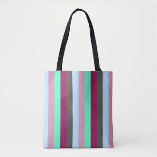 Tote Bag colorez la couleur en pastel de rayures stylisée