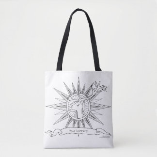 Tote Bag Colorez-moi illustration de griffonnage de zen de