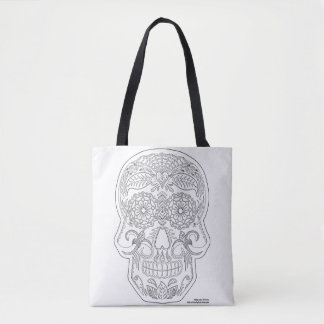 Tote Bag Colorez-moi jour de l'art mort de zen de crâne de