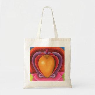 Tote Bag Coloridas Frutas, manzana, mangue, corazón