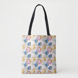 Tote Bag Conception abstraite artistique de cercle, brosses