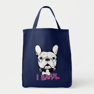 "Tote Bag Conception artistique de ""écorce"" de bouledogue"