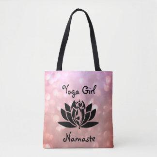 Tote Bag Conception assez rose de Namaste de fille de yoga