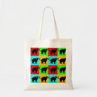 Tote Bag Conception Buget Fourre-tout de chat noir