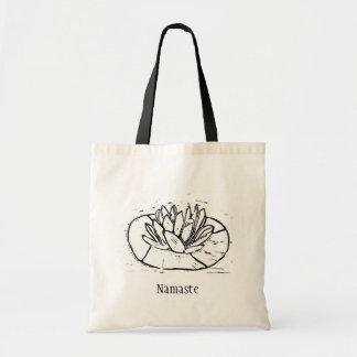 Tote Bag Conception de coupe de lino de Namaste Lotus