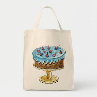 Tote Bag Conception de gâteau d'aquarelle