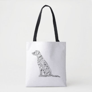 Tote Bag Conception de griffonnage de labrador retriever