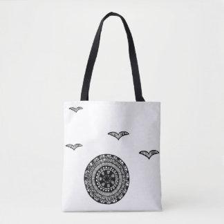 Tote Bag Conception fourre-tout de cercle inspirée par