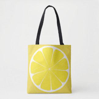 Tote Bag Conception jaune lumineuse de tranche d'agrumes de