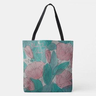 Tote Bag conception originale contempory florale peu