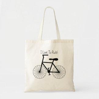 Tote Bag Conception personnalisée de bicyclette