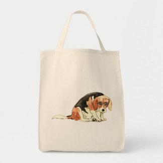 Tote Bag Conception pour aquarelle d'art de chien de beagle