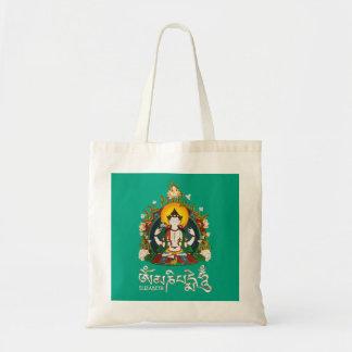 Tote Bag Conception tibétaine de bourdonnement de Bouddha