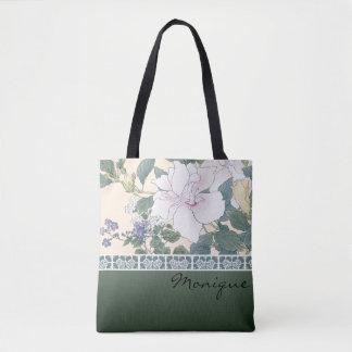 """Tote Bag Copie de bloc en bois de T Kônan """"ketmie et"""