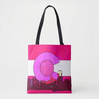 Tote Bag Copie rose partout fourre-tout d'horizon du