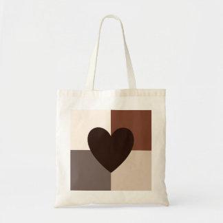 Tote Bag Couleurs chaudes de conception de coeur