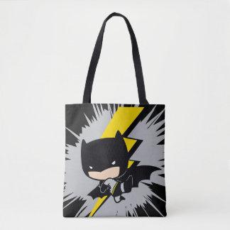 Tote Bag Coup-de-pied de foudre de Chibi Batman