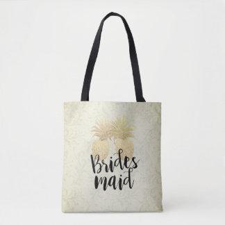 Tote Bag Couples vintages d'ananas d'or de demoiselle