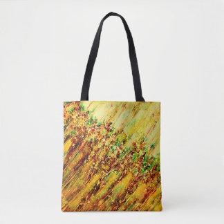 Tote Bag Courses colorées de Brown d'art abstrait