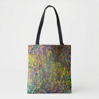 Tote Bag Courses colorées multi d'art abstrait