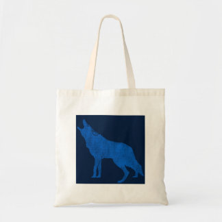 Tote Bag Coyote bleu d'hurlement d'animaux vintages