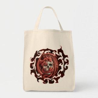 Tote Bag Crâne de dragon - épicerie organique Fourre-tout