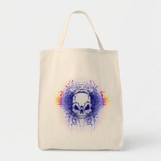 Tote Bag Crâne de Rockstar - épicerie organique Fourre-tout