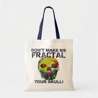 Tote Bag Crâne drôle de fractale