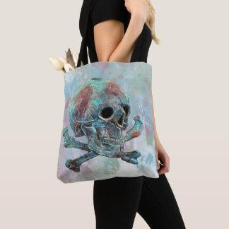 Tote Bag Crâne et aquarelle d'os croisés