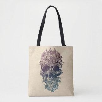 Tote Bag Crâne floral