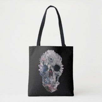 Tote Bag Crâne floral 2