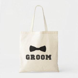 Tote Bag Cravate d'arc de garçons d'honneur de mariage de