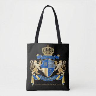 Tote Bag Créez votre propre manteau d'emblème bleu de lion