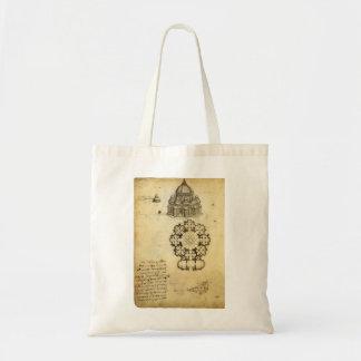 Tote Bag Croquis architectural par Leonardo da Vinci