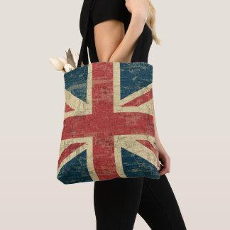 Tote Bag Cru BRITANNIQUE de drapeau d'Union Jack affligé