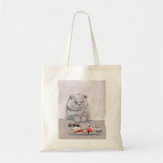 Tote Bag ©CSiravo de M. Grumps de chat de sushi