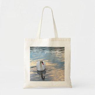 Tote Bag Cygne sur l'eau bleue