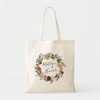 Tote Bag Dame de honneur rustique de la fleur |