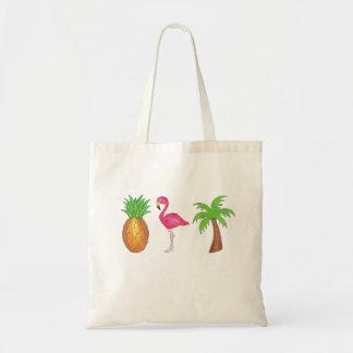 Tote Bag Dans les tropiques ananas, palmier Fourre-tout de