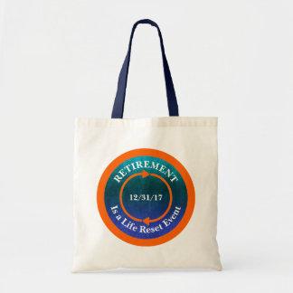 Tote Bag Date orange de retraite d'icône de remise de la
