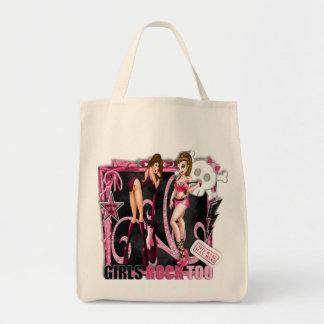 Tote Bag De filles de roche épicerie organique Fourre-tout